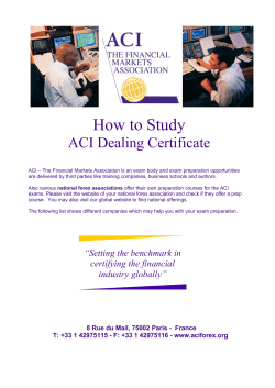 How to Study ACI Dealing Certificate