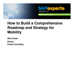 How to Build a Comprehensive Roadmap and Strategy for Mobility Winni Hesel