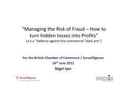 """Managing the Risk of Fraud – How to Nigel Iyer"