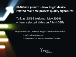 III-Nitride growth – how to get device