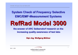 RefRad Model 3000 System Check of Frequency Selective EMC/EMF -