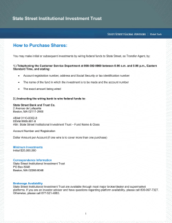 State Street Institutional Investment Trust How to Purchase Shares: