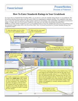 How To Enter Standards Ratings in Your Gradebook  1