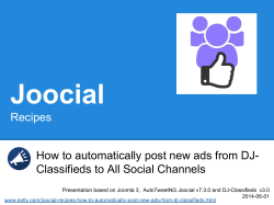 Joocial Recipes How to automatically post new ads from DJ-