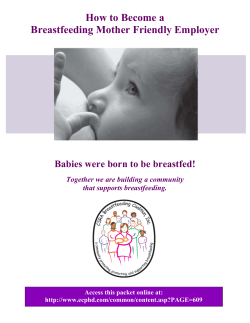 How to Become a Breastfeeding Mother Friendly Employer