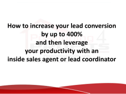 How to increase your lead conversion by up to 400%