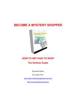 BECOME A MYSTERY SHOPPER HOW TO GET PAID TO SHOP