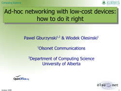 Ad-hoc networking with low-cost devices: how to do it right