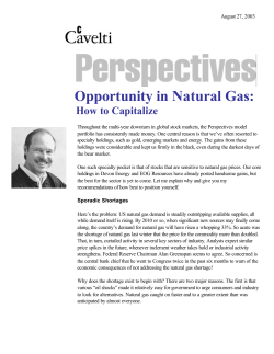 Opportunity in Natural Gas: How to Capitalize