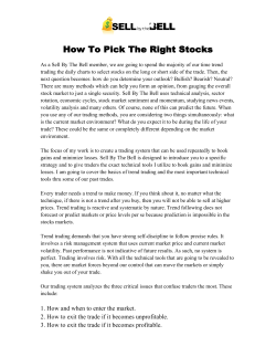 How To Pick The Right Stocks