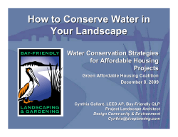 How to Conserve Water in Your Landscape Water Conservation Strategies for Affordable Housing