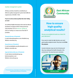 East African Community Quality management system