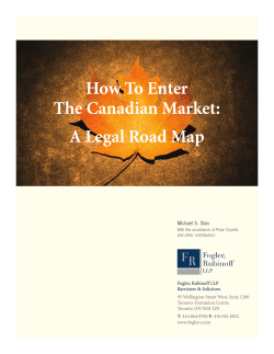 How To Enter The Canadian Market: A Legal Road Map