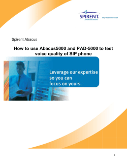 How to use Abacus5000 and PAD-5000 to test Spirent Abacus
