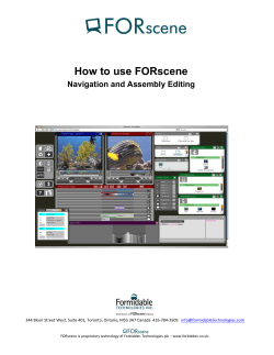 How to use FORscene Navigation and Assembly Editing