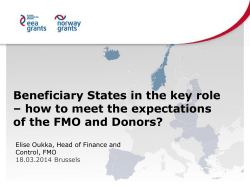 Beneficiary States in the key role of the FMO and Donors?
