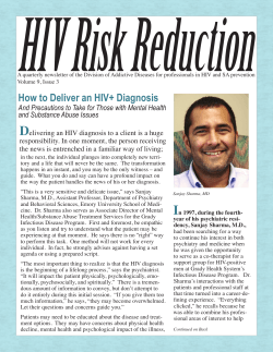 HIV Risk Reduction
