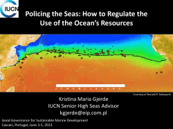 Policing the Seas: How to Regulate the Kristina Maria Gjerde