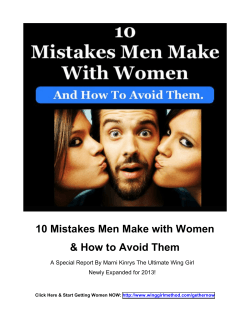 10 Mistakes Men Make with Women & How to Avoid Them