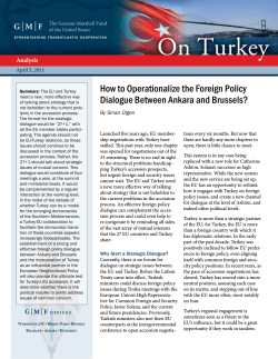 How to Operationalize the Foreign Policy Dialogue Between Ankara and Brussels? Analysis
