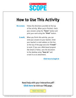how to Use this activity