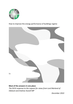 How to improve the energy performance of buildings regime