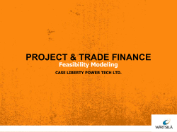 PROJECT & TRADE FINANCE Feasibility Modeling CASE LIBERTY POWER TECH LTD.
