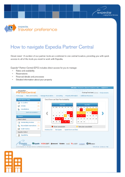 How to navigate Expedia Partner Central