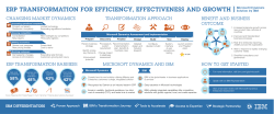 } ERP TRANSFORMATION FOR EFFICIENCY, EFFECTIVENESS AND GROWTH CHANGING MARKET DYNAMICS TRANSFORMATION APPROACH