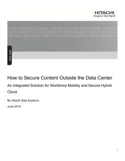 How to Secure Content Outside the Data Center Cloud