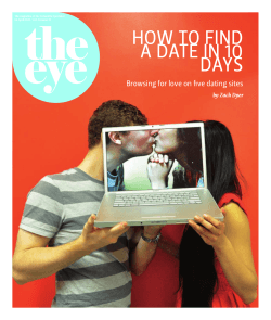 the eye HOW TO FIND A DATE IN 10