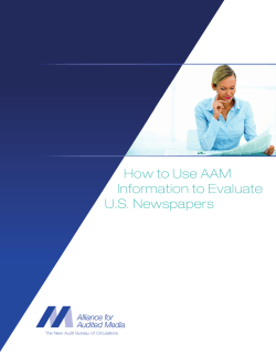How to Use AAM Information to Evaluate U.S. Newspapers