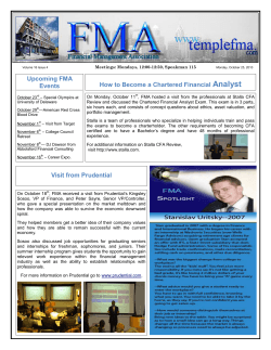 Analyst Upcoming FMA How to Become a Chartered Financial Events