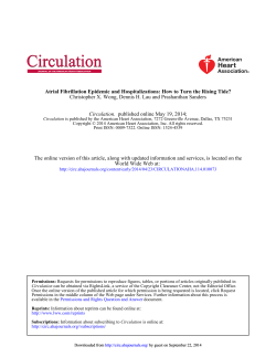Christopher X. Wong, Dennis H. Lau and Prashanthan Sanders Circulation.