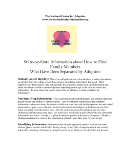State-by-State Information about How to Find Family Members