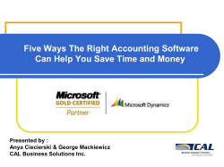 Five Ways The Right Accounting Software  Presented by :