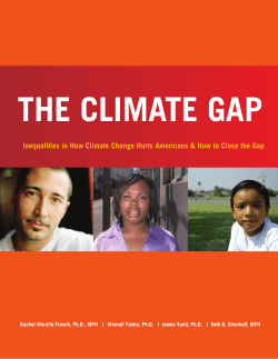 THE CLIMATE GAP