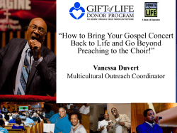 """How to Bring Your Gospel Concert Preaching to the Choir!"""