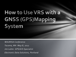 WAURISA Conference Tacoma, WA  May 8, 2012 Jim Lahm- GPS/GIS Specialist
