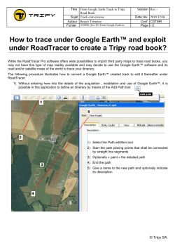 Titre  From Google Earth Track to Tripy Version Rev -