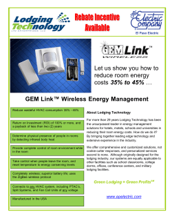Let us show you how to reduce room energy costs 35% to 45%
