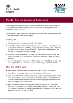 Floods – how to clean up your home safely