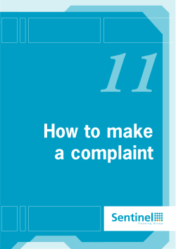 11 How to make a complaint