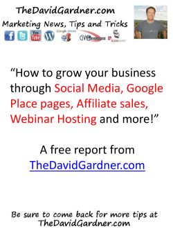 """How to grow your business through and more!"" A free report from"