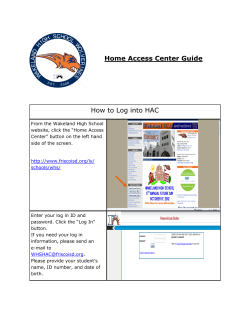 Home Access Center Guide How to Log into HAC