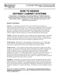 HOW TO DESIGN ODYSSEY CABINET SYSTEMS