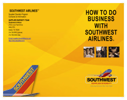 HOW TO DO BUSINESS WITH SOUTHWEST