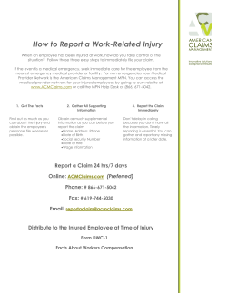 How to Report a Work-Related Injury