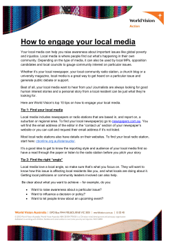 How to engage your local media