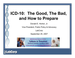 ICD-10:  The Good, The Bad, and How to Prepare